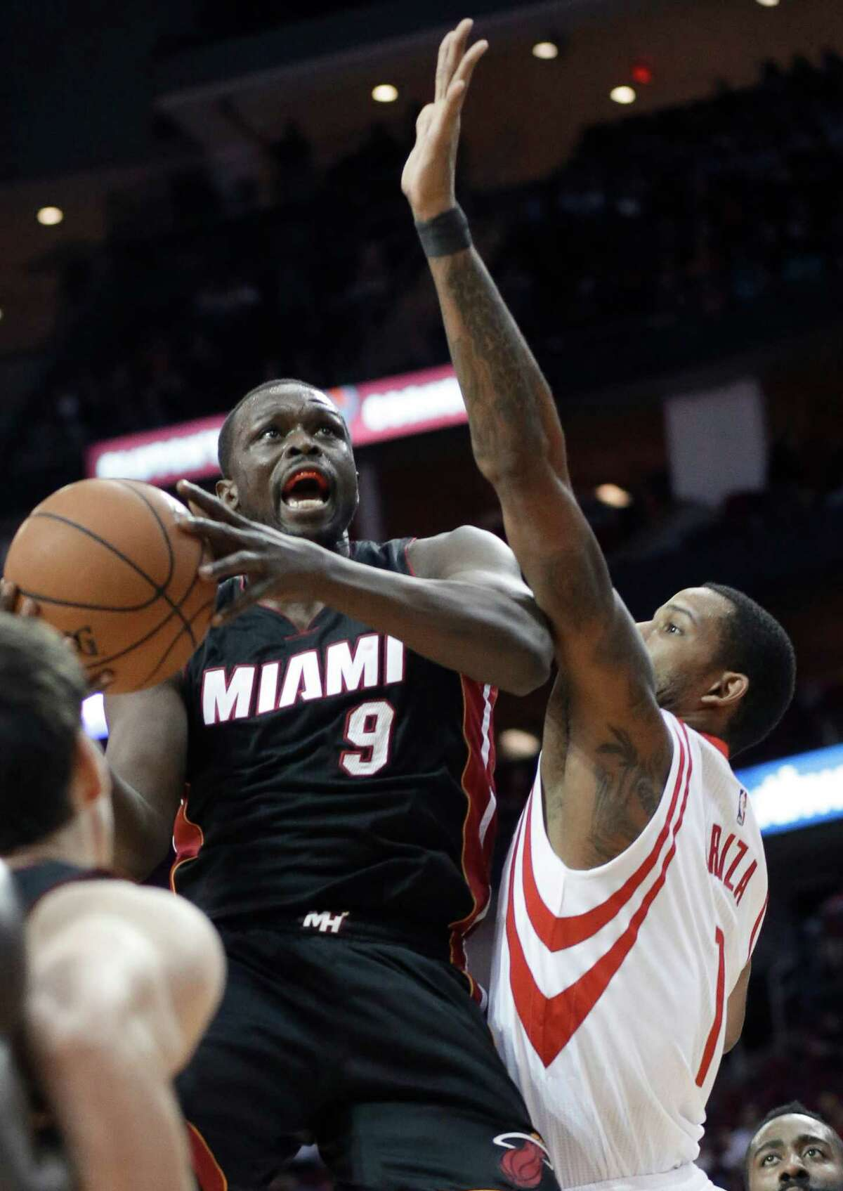 OUT THE DOOR Luol Deng, Heat. Unrestricted. Reasons he will stay: Expressed love for organization and city; will be in the East hunt. Reasons he will go: Heat would have a hard time paying him what he will command on open market from cap-flush teams looking for a hard-nosed defender and veteran leader.