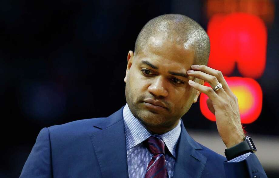 J.B. Bickerstaff strikes a more congenial pose Tuesday night after being too outspoken in the NBA's view on Saturday. Photo: Scott Halleran, Staff / 2016 Getty Images