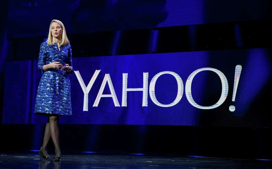 FILE - In this Jan. 7, 2014, file photo, Yahoo president and CEO Marissa Mayer speaks during the International Consumer Electronics Show in Las Vegas. Yahoo reports financial earnings on Tuesday, Feb. 2, 2016. (AP Photo/Julie Jacobson, File) Photo: Julie Jacobson, STF / AP
