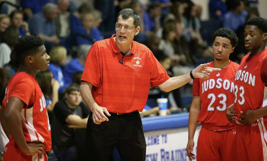 Judson coach Mike Wacker gets his team going before the start of the second half against New Braunfels on Feb. 2, 2016. Photo: Tom Reel /San Antonio Express-News / 2016 SAN ANTONIO EXPRESS-NEWS