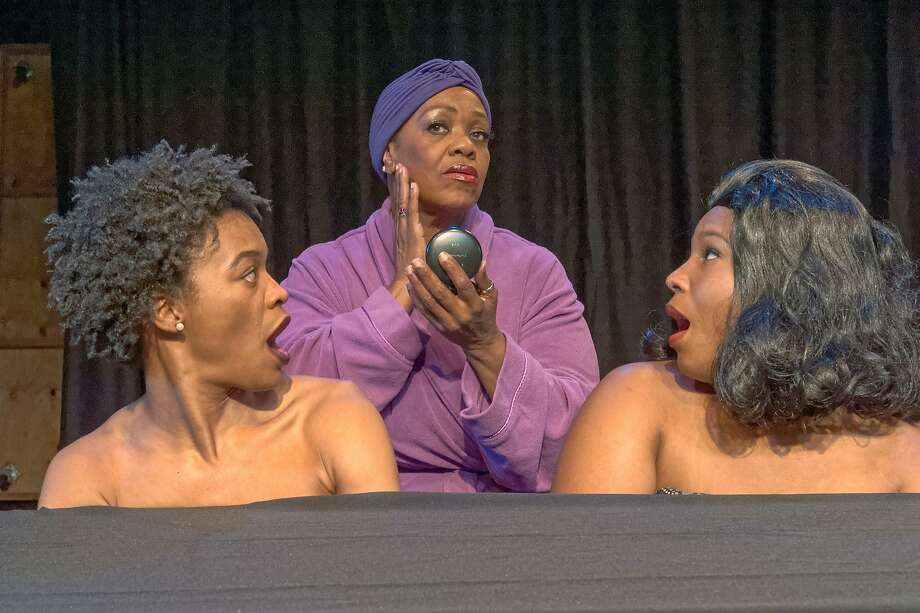 "Paige Mayes (left), Clara McDaniel and Tavia Percia in ""The Hairpiece,"" a vignette in George Wolfe's ""The Colored Museum."" Photo: Lance Huntley"