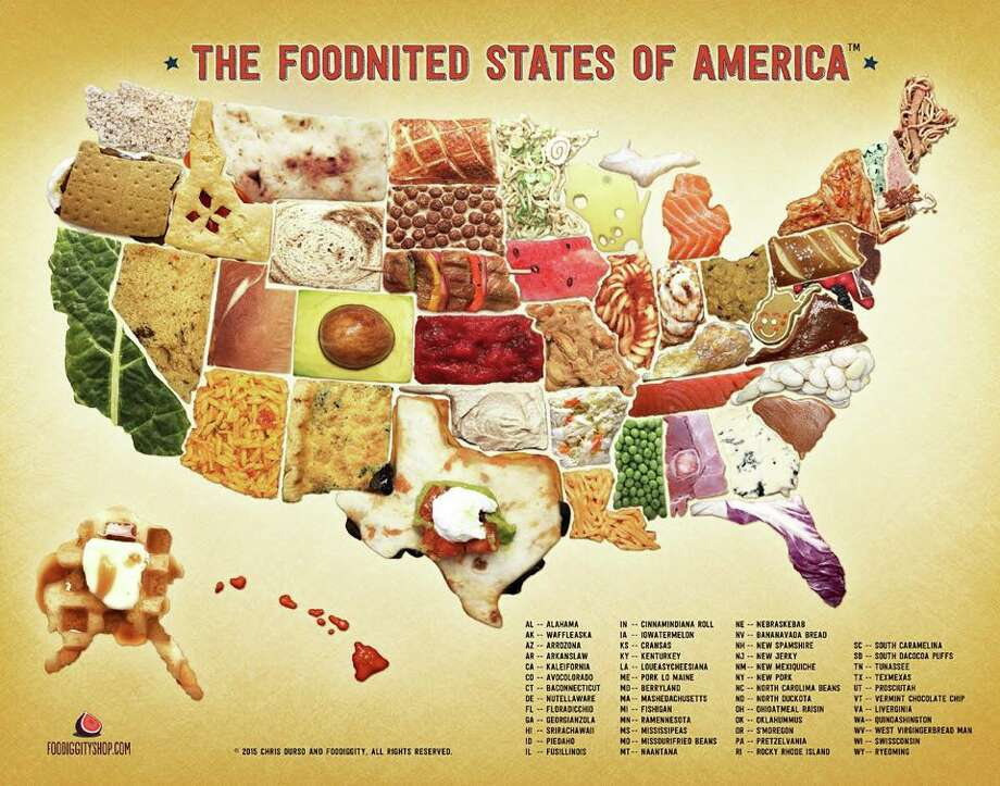 The Foodnited States of America: What each state would be if it was a food. Photo: Courtesy Of Foodiggity