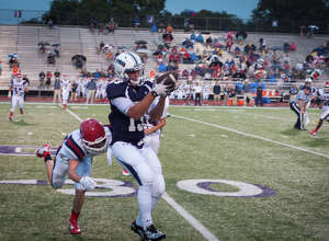 Jack Giblin of PNG work offense Friday night at the PNG home field. photo by Michael Reed