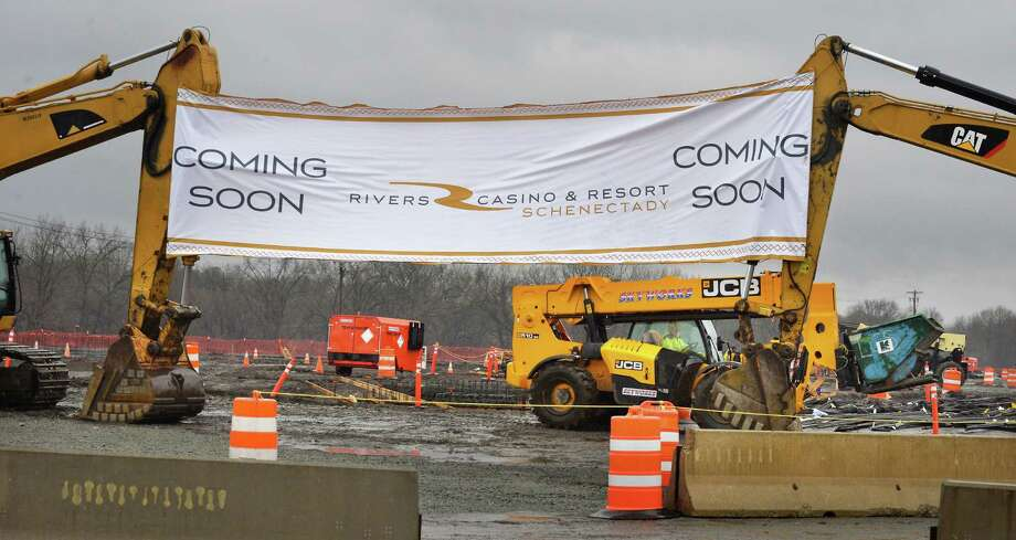 Rivers Casino & Resort Schenectady prepares for their ceremonial groundbreaking Wednesday Feb. 3, 2016 in Schenectady, NY.  (John Carl D'Annibale / Times Union) Photo: John Carl D'Annibale / 10035251A