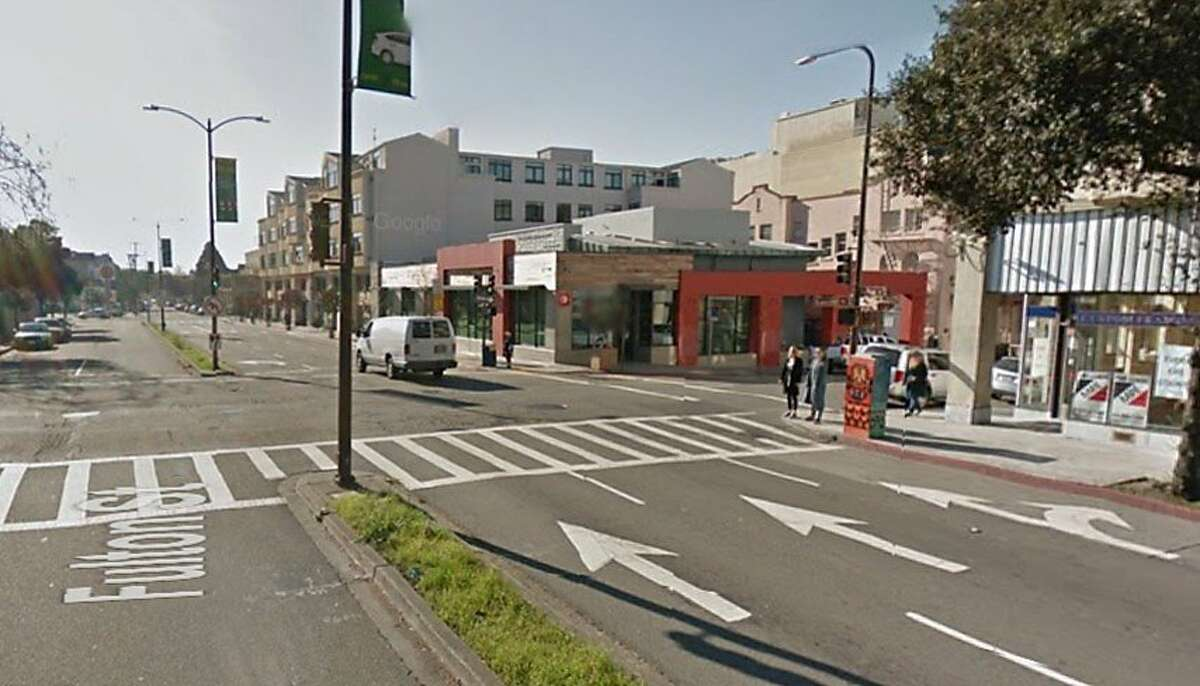 A Google street view image shows the Berkeley intersection where a 47-year-old bicyclist was struck and dragged by a suspected DUI driver on Tuesday afternoon.