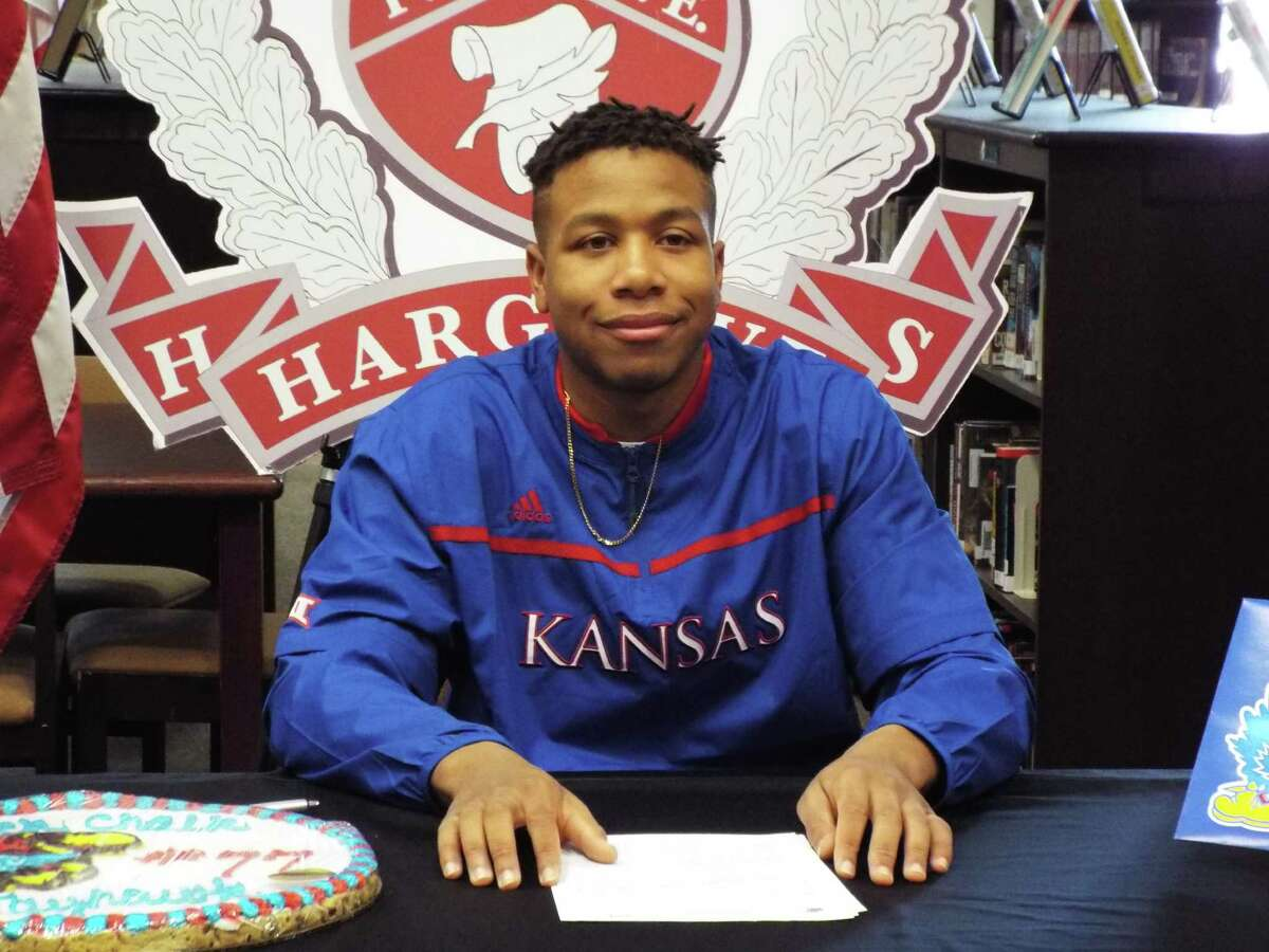 Huffman-Hargrave offensive lineman Antione Frazier signing with Kansas.
