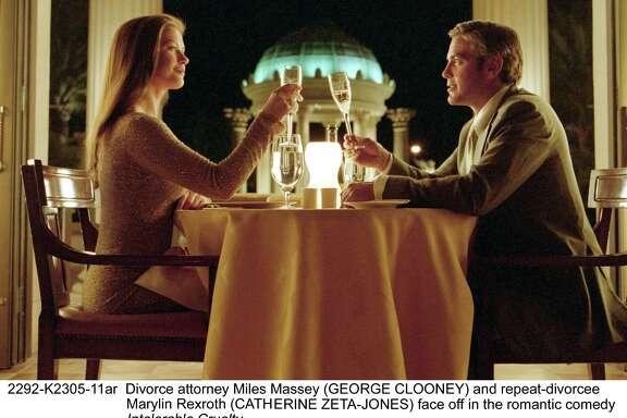 """Catherine Zeta-Jones and George Clooney star in """"Intolerable Cruelty."""""""