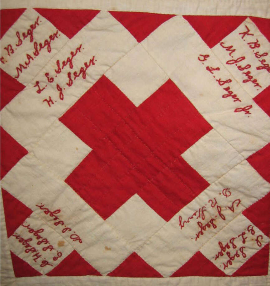 "The Kent Historical Society has announced it is the beneficiary of the Kent Quilters newest project, a ""Signature Quilt,"" which will permanently preserve signatures from full- and part-time Kent residents. For a suggested minimum donation of $5, residents are invited to sign a muslin square in permanent ink by Feb. 15 by stopping by the town clerk's office at Kent Town Hall during business hours. Above is an example of a signature quilt, in this case the quilt, which is dated 1894, the historical society received from the First Congregational Church of Kent. Photo: Courtesy Of Kent Historical Society / The News-Times Contributed"