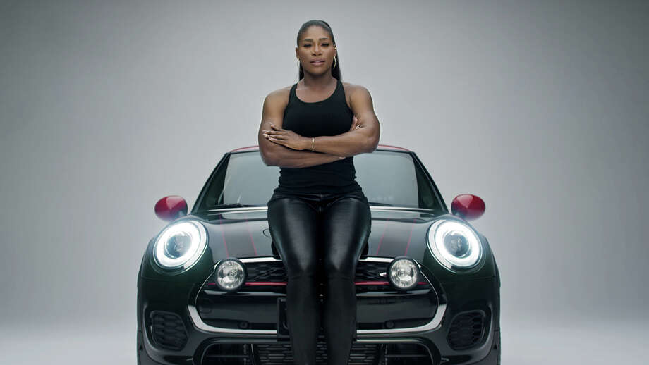 """This image provided by Mini USA shows a still from the company's Super Bowl 50 """"Defy Labels"""" ad spot featuring tennis star Serena Williams. Williams is one of several celebrities being featured in Mini USA's Super Bowl spot. (Mini USA via AP) Photo: HONS / Mini USA"""