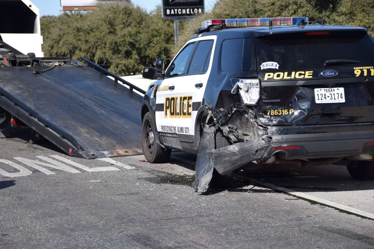 According to police, the crash happened shortly before 11:45 a.m. on Wednesday, Feb. 3, 2016, when a motorist struck a police officer who was in his patrol car.