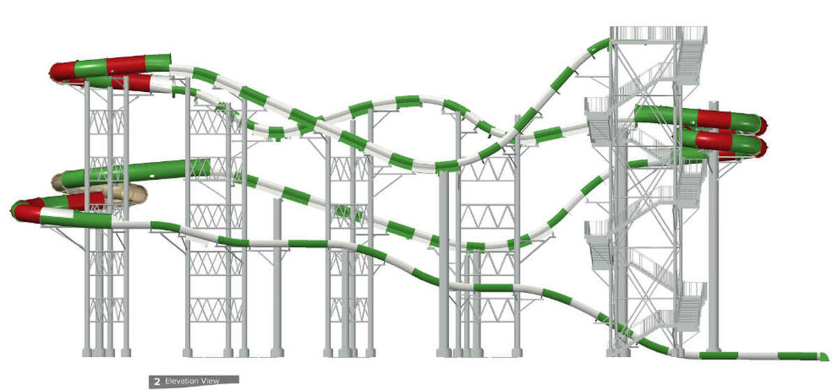 Schlitterbahn's MASSIV watercoaster under construction in Galveston will be 926 feet long and will be the world's tallest watercoaster, the company said Feb. 3, 2016. The ride's exact height and opening date are to be announced. (Schlitterbahn)