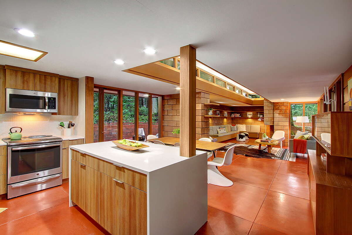 The kitchen and living space.