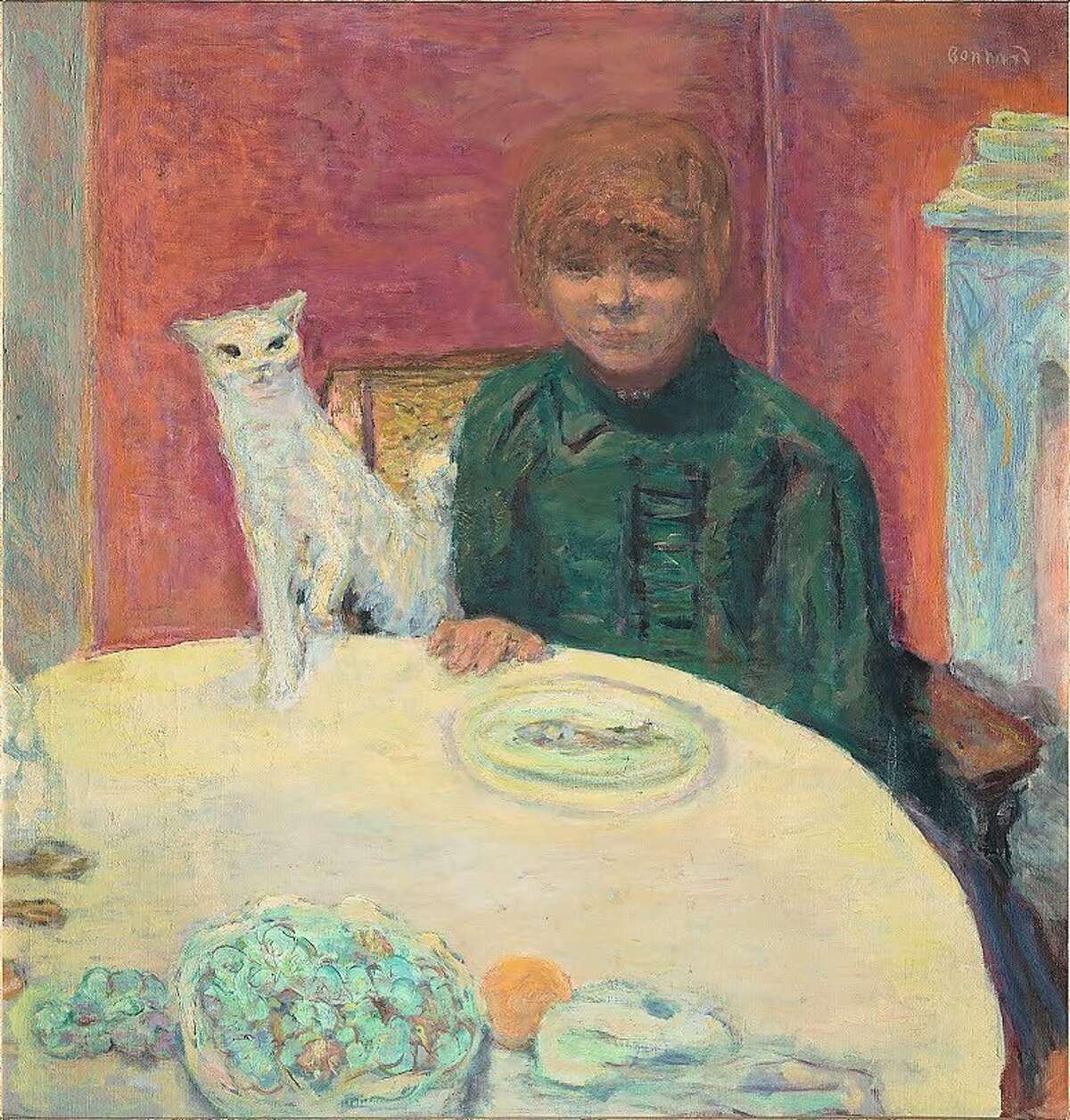 """Pierre Bonnard, """"Woman with a Cat, or The Demanding Cat"""" (1912)."""