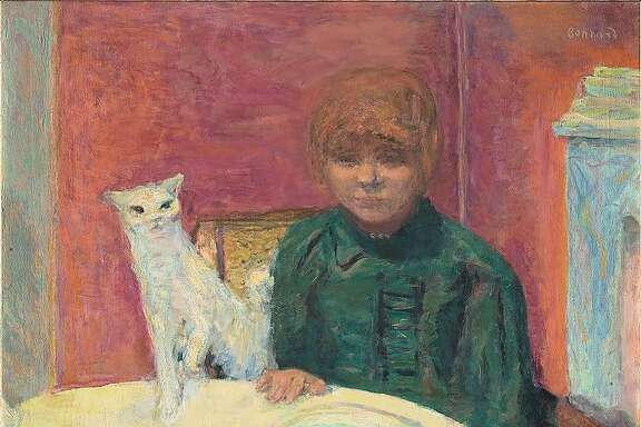 "Pierre Bonnard, ""Woman with a Cat, or The Demanding Cat"" (1912)."