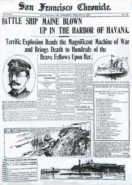 newspaper piece of writing uss maine explosion