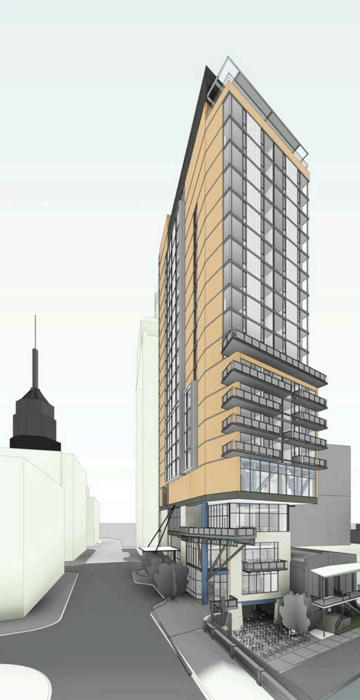 Plans for a skyscraper Hilton hotel along the downtown River Walk got approval from the city Historic and Design Review Commission on Wednesday.