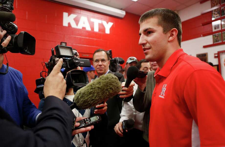Collin Wilder, a UH signee, was voted the Class 6A Defensive Player of the Year after helping Katy win a state championship. Click through the gallery to see National Signing Day photos from the Houston area. Photo: Mark Mulligan, Houston Chronicle / © 2016 Houston Chronicle