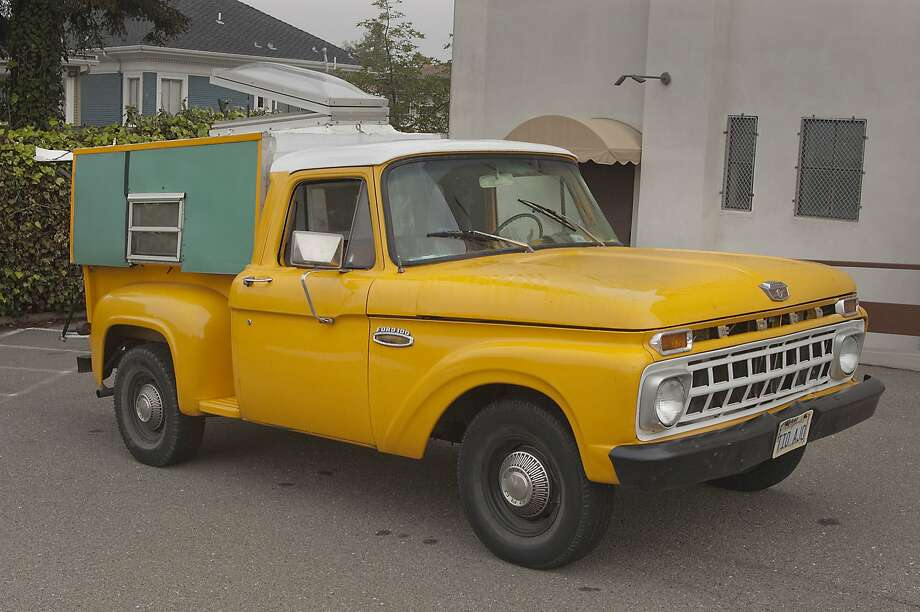 Photos of Vincent Corbett, Jr.and his 1965 Ford F100 Pickup Camper Truck photographed near Saint Margaret Mary Church in Oakland, CA on January 20, 2016 Photo: Stephen Finerty, Photograph By Stephen Finerty -