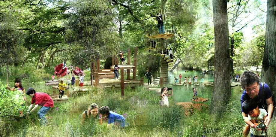 The proposed children's garden at Houston Botanic Garden. Photo: West 8