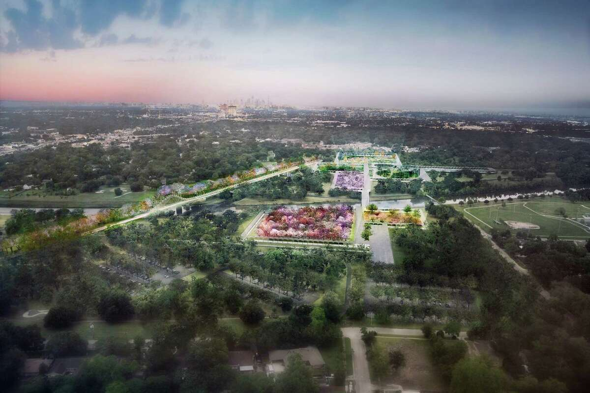 Artist's rendering of the proposed Houston Botanic Garden. (For more artist's renderings of the proposal, scroll through the gallery.)