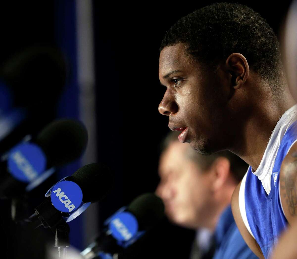 Kentucky's Terrence Jones during a news conference Saturday, March 24, 2012, in Atlanta. (AP Photo/David J. Phillip)