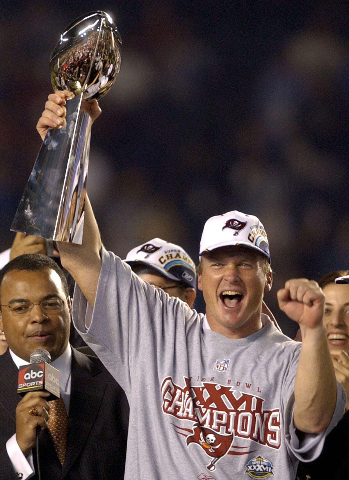 39. Chucky sticks it Raiders: After leaving Oakland for Tampa Bay the previous year, Jon Gruden got his revenge with an impressive win a 48-21 triumph over the Raiders in Super Bowl XXXVII. The Buccaneers defense intercepted Oakland quarterback Rich Gannon five times, with three of them returned for touchdowns.