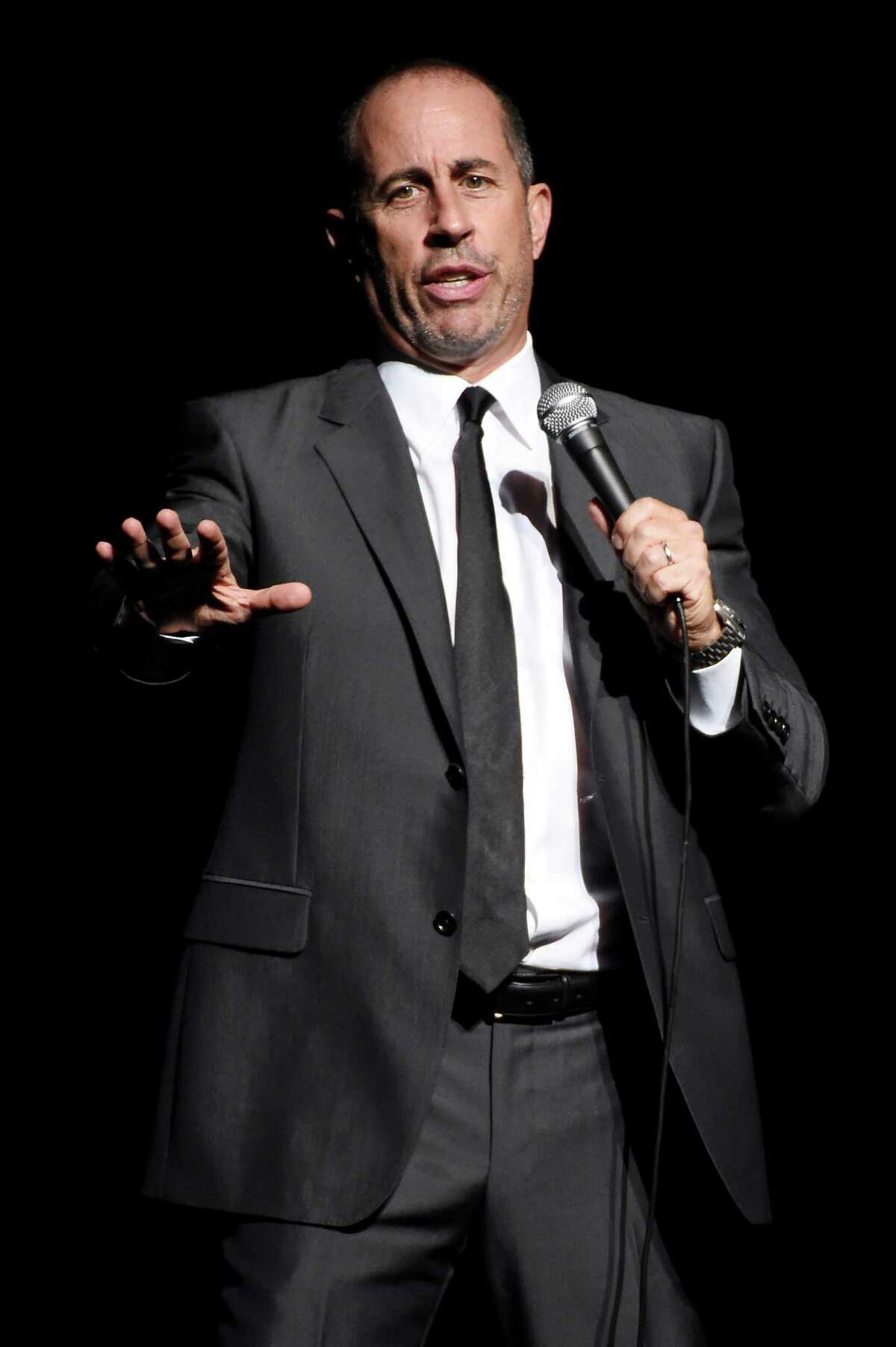 NEW YORK, NY - NOVEMBER 16: Comedian Jerry Seinfeld performs onstage as Baby Buggy celebrates 15 years with