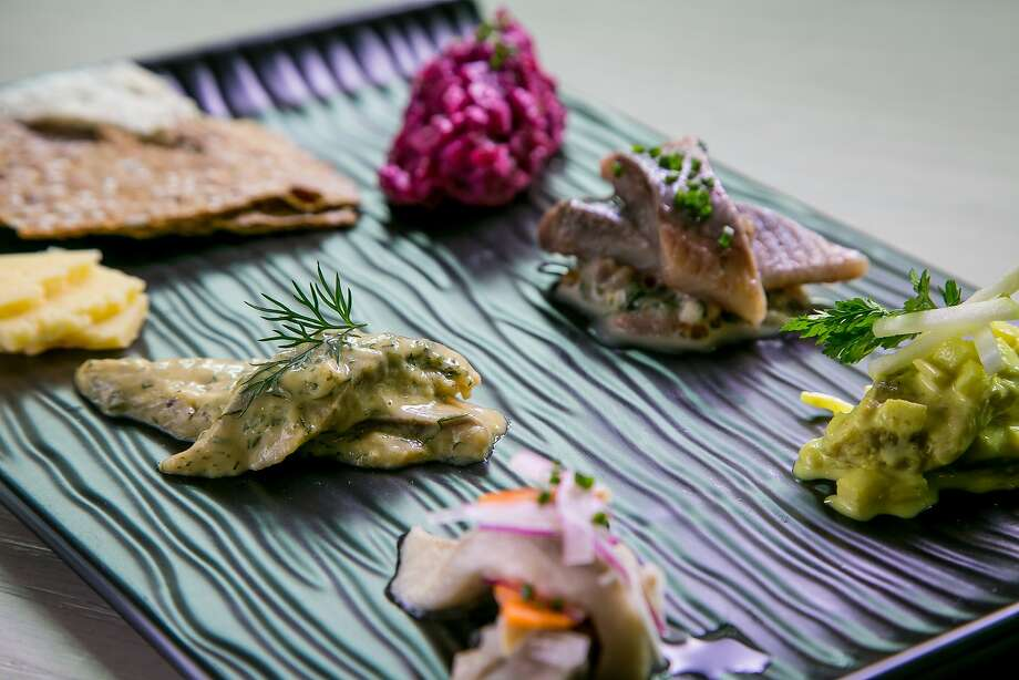 Herring Five Ways at Volta in San Francisco. Photo: John Storey, Special To The Chronicle