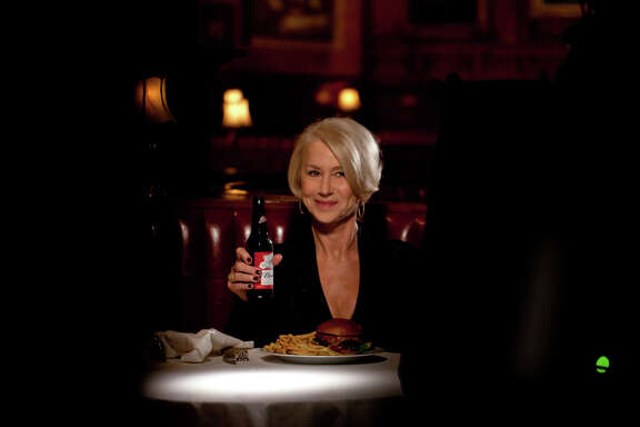 Actress Helen Mirren delivers a lecture about why drunken driving is a bad idea as part of a Budweiser commercial.