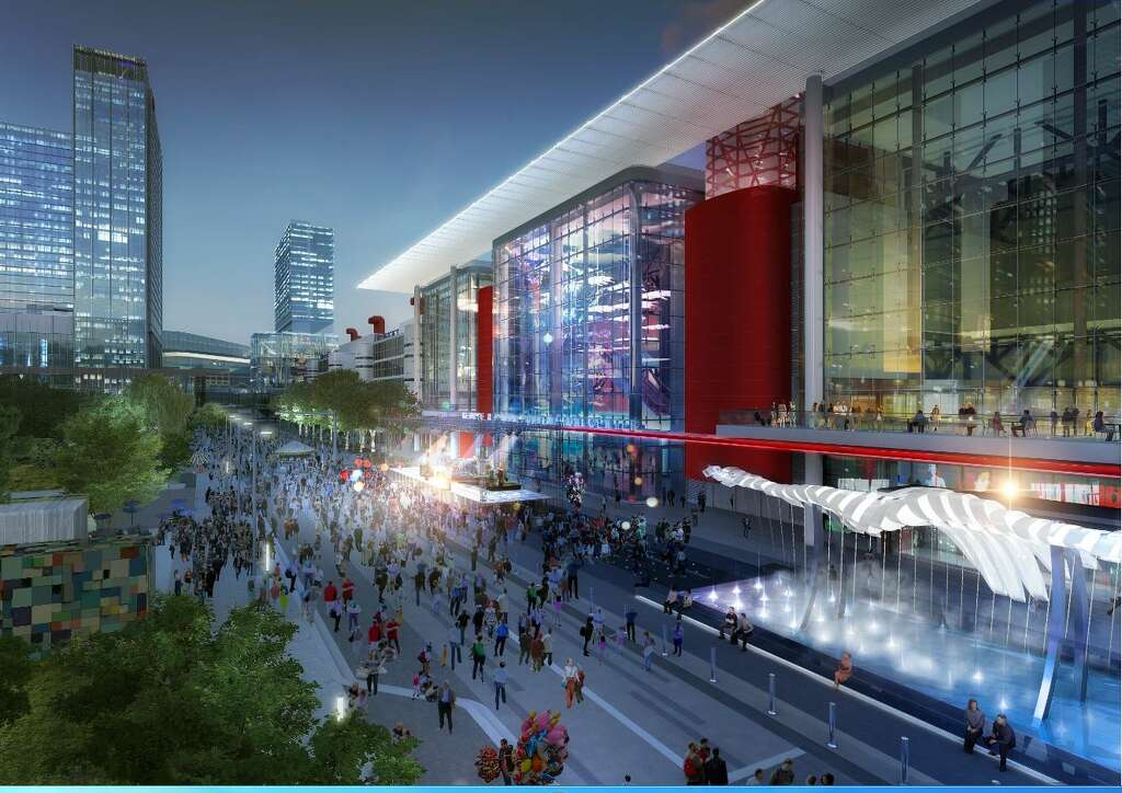 Development and marketing officials say they're confident the infrastructure will be in place to keep downtown businesses hopping after Houston hosts the next Super Bowl. Photo: HoustonFirst