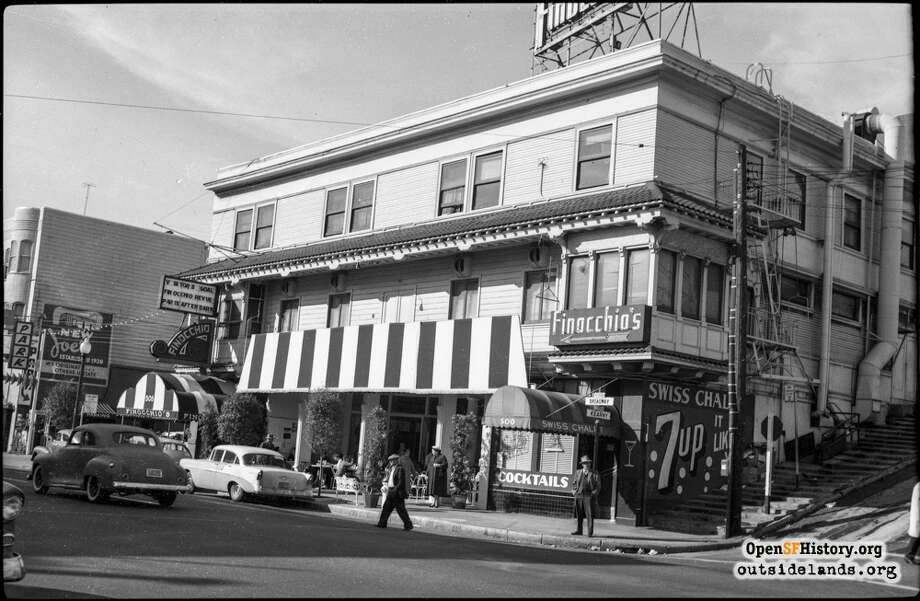 Broadway and Kearny(1958) Finocchio's  - Courtesy of OpenSFHistory.org.