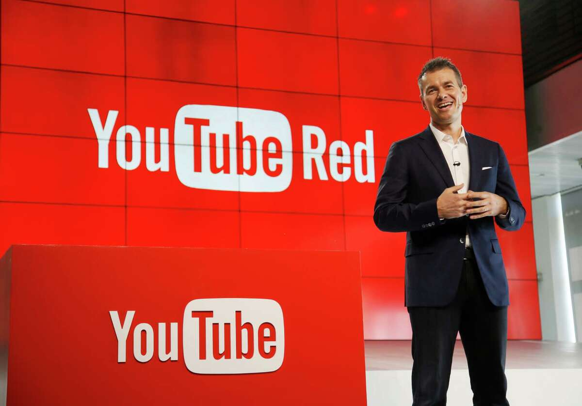 YouTube Chief Business Officer Robert Kyncl speaks at the unveiling of YouTube Red, in Los Angeles last October. Next week the company is launching its first set of movies and original series on the subscription service.