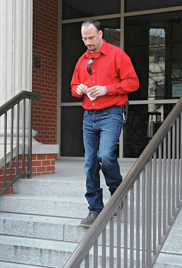 Jayson White, father of slain 5-year-old Kenneth White, leaves Albany County Family Court on Thursday, Feb. 4, 2016 in Albany, N.Y. He appeared to surrender all parental rights to Kenneth's sisters, ages 5 and 6 but the case was adjourned until February 25th. (Lori Van Buren / Times Union) Photo: Lori Van Buren / 10035276A