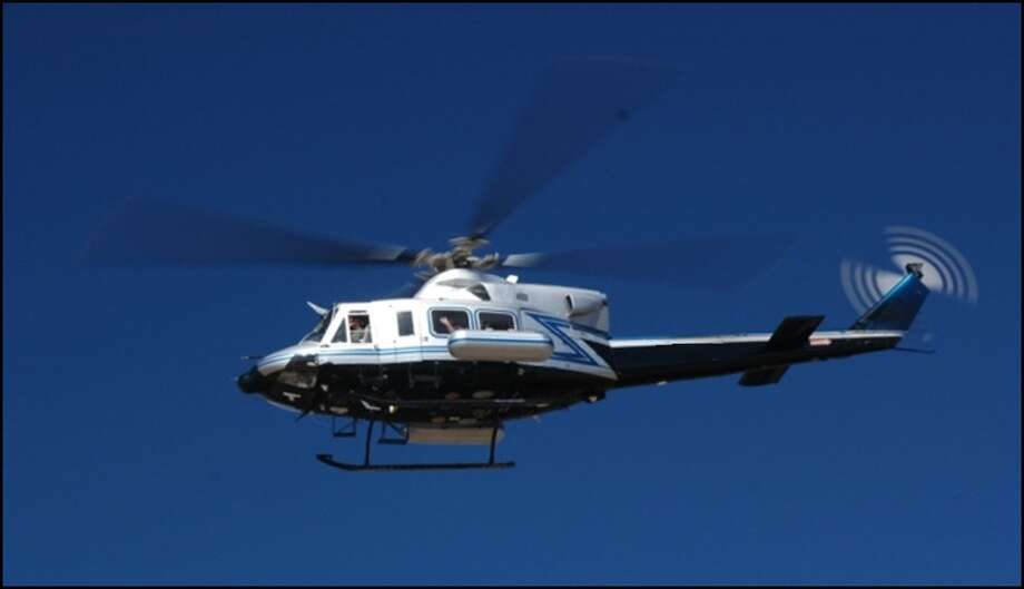 Helicopters like this are being used to measure background radiation in the Bay Area. Photo: National Nuclear Security Administration