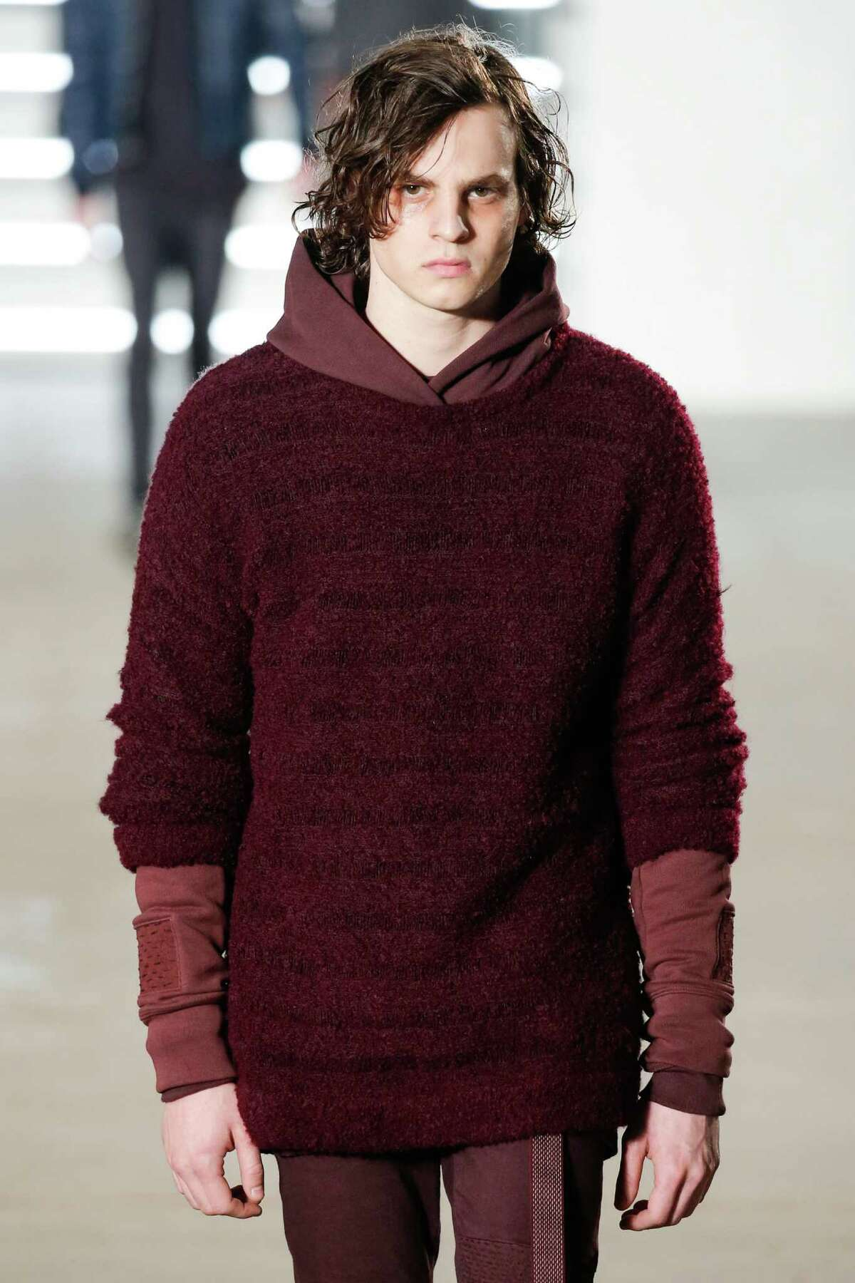 This man, one of the angriest male models we've ever seen, was one of hundreds who hit the runways this week for New York Fashion Week. Take a look at all the outfits we know your husband is never going to wear.