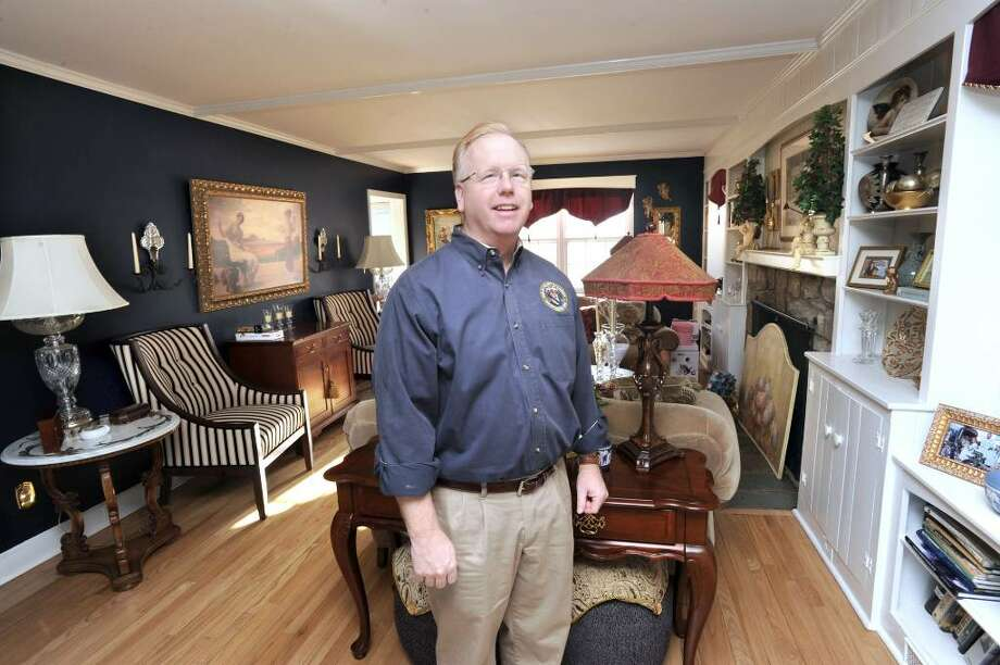 Danbury Mayor Mark Boughton in the living room of his home on Alan Road in Danbury on Monday, March 8, 2010. Boughton is a Republican gubernatorial candidate. Photo: Carol Kaliff / The News-Times