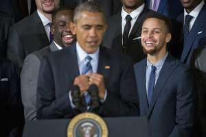 Warriors have day to remember at White House - Photo