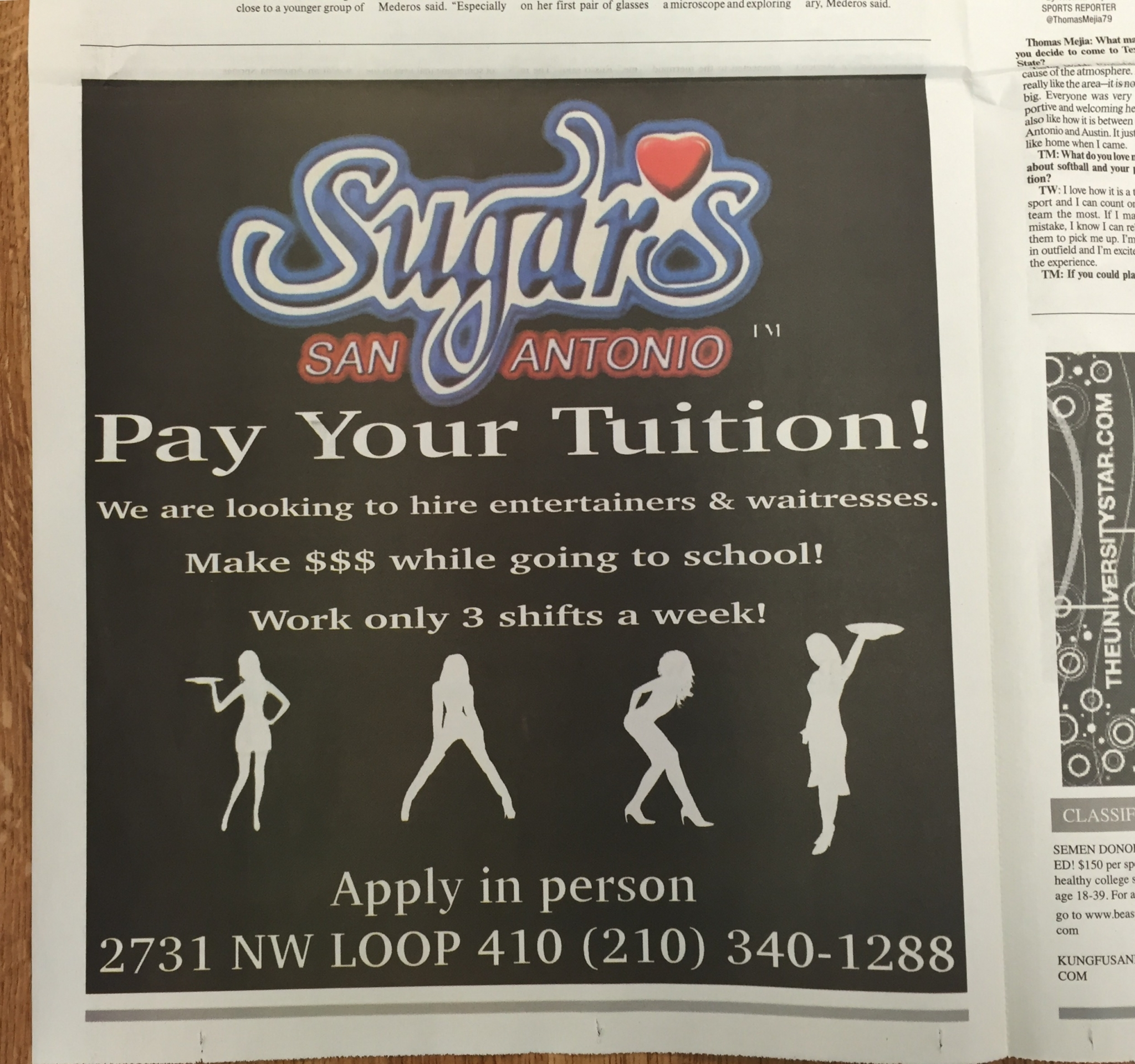 San Antonio Strip Club Sugar S Recruiting Texas State