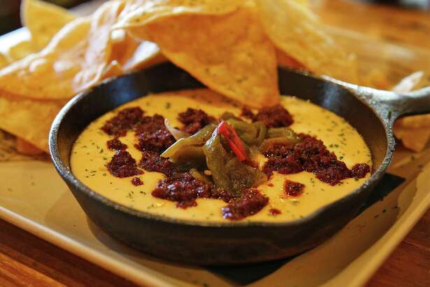 The Serious Queso includes chorizo and sweet and spicy pickled chiles.