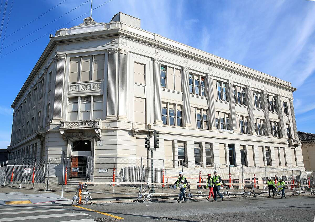 A corner view of building 101 on the corner of 20th and Illinois at historic pier 70 in San Francisco, California, on Thursday, February 4, 2016. Restoration Hardware will be the first tenant in building 101 using it mainly for gallery space.