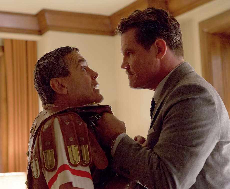 "George Clooney, left, and Josh Brolin in ""Hail, Caesar!"" MUST CREDIT: Alison Rosa, Universal Pictures / © Universal Pictures"