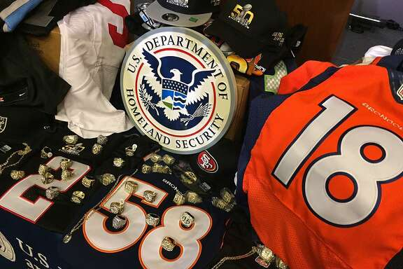 Knockoff NFL goddies confiscated by Homeland Security.