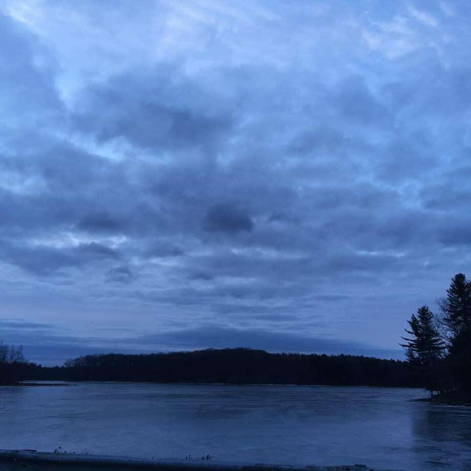 "Almost every day Fran Rossi Szpylczyn of Clifton Park tries to stop to take a photo of Stony Creek Reservoir during drives to work. ""On January 27, the unedited photo had a particularly moody look, with very blue tones predominating,"" Szpylczyn said."