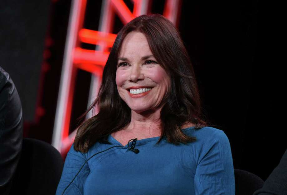 """Barbara Hershey speaks during the """"Damien"""" panel at the A&E 2016 Winter TCA on Wednesday, Jan. 6, 2016, in Pasadena, Calif. (Photo by Richard Shotwell/Invision/AP) ORG XMIT: CAAK036 Photo: Richard Shotwell / Invision"""