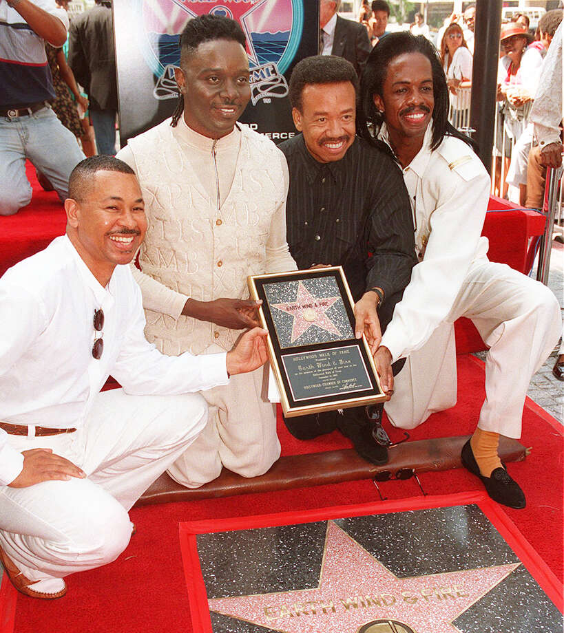 FILE - In this Sept. 14, 1995 file photo, Ralph Johnson, from left,  Phillip Bailey, Maurice White and Verdine White, of Earth, Wind & Fire  in Los Angeles. Maurice White, the founder and leader of Earth, Wind & Fire, died at home in Los Angeles, Wednesday, Feb. 3, 2016, said his brother, Verdine White. He was 74. (AP Photo/Kevork Djansezian, File) ORG XMIT: NYET410 Photo: Kevork Djansezian / AP