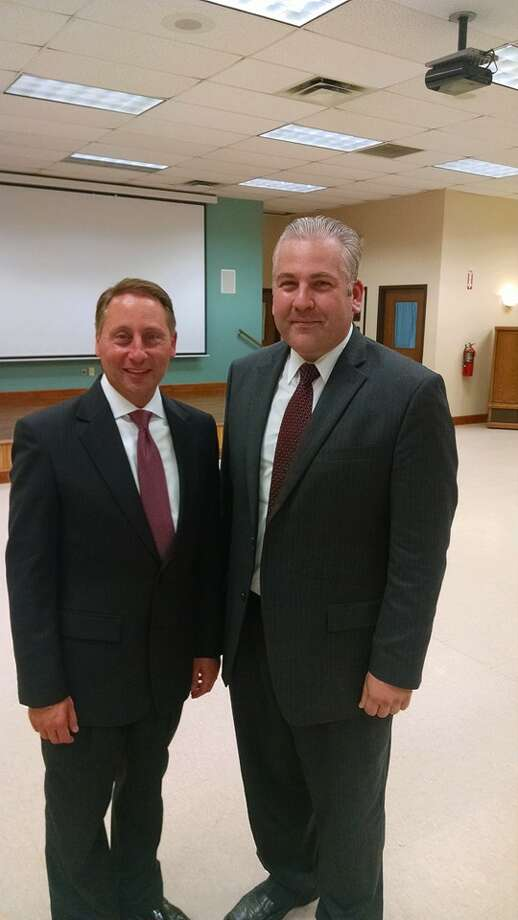 Chris Boyark (right) with former gubernatorial candidate Rob Astorino. (Provided by Boyark)  ORG XMIT: ccyIuhDiPXf8yZKimYKY
