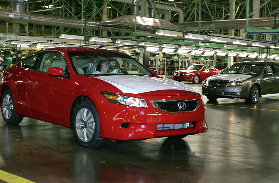 FILE - In this Nov. 1, 2007 file photo, a 2008 Honda Accord Coupe, left,  is driven off the assembly line as a 2008 Acura TL waits during production at  Honda of America Manufacturing's Marysville Auto Plant in Marysville, Ohio.  Continental Automotive Systems says in documents filed with the government, Thursday, Feb. 4, 2016,  that moisture can get inside its air bag control computers, causing the power supplies to corrode and fail. If that happens, air bags may not inflate in a crash or they could deploy without a crash. Documents say Continental will notify automakers, who will recall cars dating to 2006. Already Honda, Fiat Chrysler and Mercedes have issued recalls. (AP Photo/Paul Vernon) ORG XMIT: NY108 Photo: Paul Vernon / AP