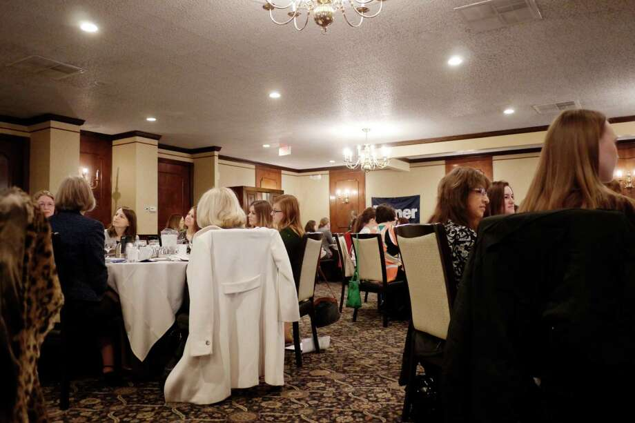Area professional women take part in the Wonder Women Mentoring Breakfast, put on by the Rensselaer county Regional Chamber of Commerce, at the Century House on Thursday, Feb. 4, 2016, in Latham, N.Y.Related: Network with local business women through Capital Region Women@Work Photo: PAUL BUCKOWSKI / 10035259A