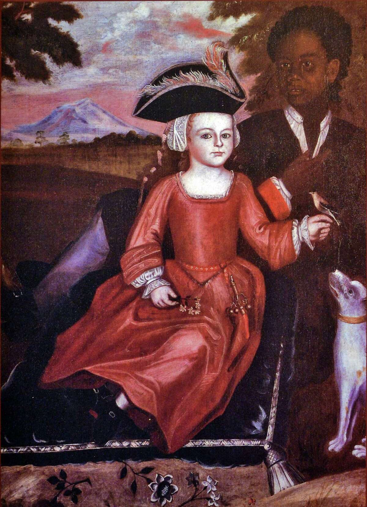 Painting of a boy of the Van Rensselaer family circa 1730, in the new exhibit