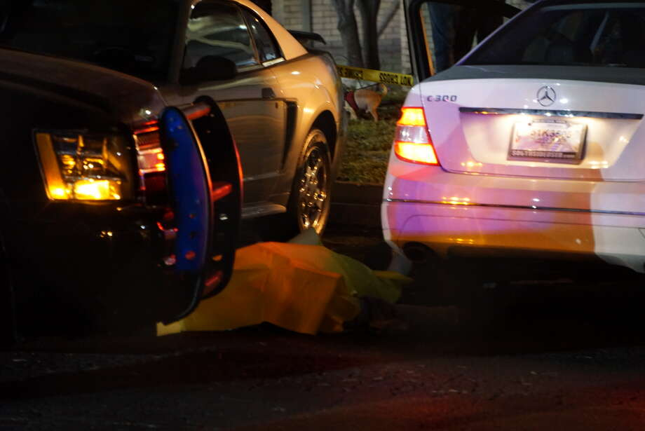 An SAPD officer was put on administrative leave after allegedly shooting a man in the upper torso on Friday Feb. 4, 2016 at the Wood Hollow Apartments. Photo: Jacob Beltran
